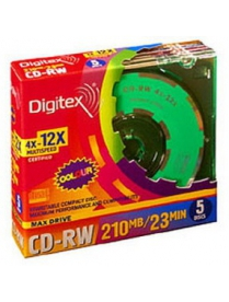CD-RW 210MB 8см 12x slim Digitex /2055000/