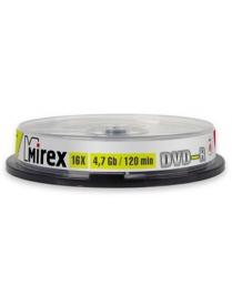 Диск DVD+R 4.7Gb 16x cake10 Mirex /4761900/