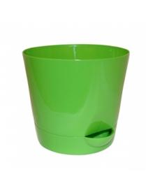 (37243) М3073 Кашпо Ника d180мм 2,7л с прикорневым поливом ярко-зелёный (36)