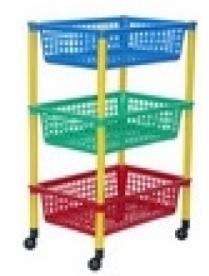 (04929) М2728 Полка для игрушек (3 секции) на колесах (3)