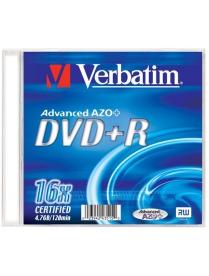 DVD-R 4.7Gb 16x slim Verbatim /3765400/