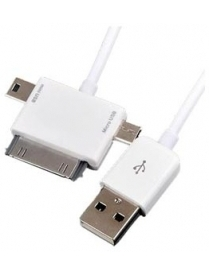 Кабель micro-USB/mini-USB/Iphone Prolife