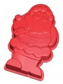 """(42815) Форма для выпечки Bekker BK-9462 """"Дед Мороз"""""""