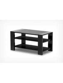 стол TV-2783 черный матовый+черное стекло