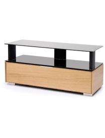 стол PL-23110 дуб+черное стекло