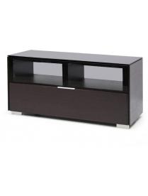стол PL-22110 венге+черное стекло