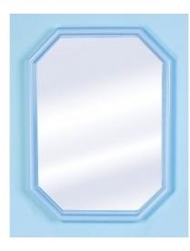"(29887) Зеркало ""Октавия"" (белый мрамор) А0204 (5)"