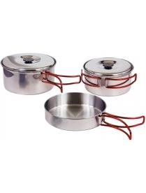 (46447) Набор посуды для кемпинга из пяти предметов CS-5-003 нерж. сталь 992005