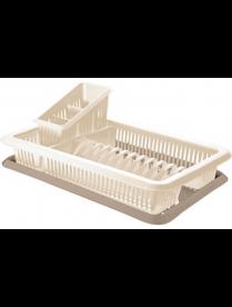 (046631) GR1562СЛ Сушилка для посуды с поддоном 1-а ярусная Bono