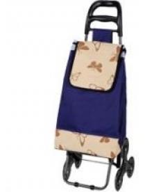 "093551 Тележка с сумкой А204 ""Бабочки"", 30 кг, колесо комб. (3 шт*88 мм)"