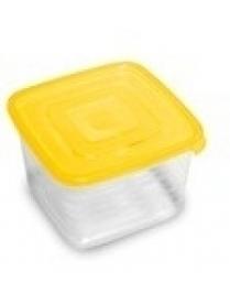 """Контейнер для продуктов (СВЧ) """"Унико"""" квадратный 0,45л набор 3шт С215"""