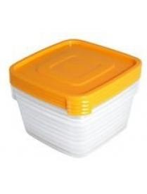 """Контейнер для продуктов (СВЧ) """"Унико"""" квадратный 0,45л набор 4шт С216"""