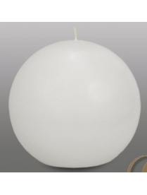 181021 Свеча шар d100 белый 4606021004643