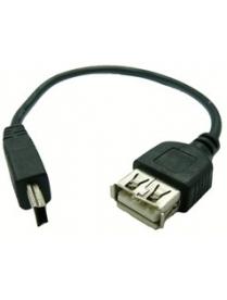 USB переходник Орбита-1011 10см (штекер mini USB-гнездо USB)