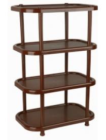 (04920) М2717 Полка овальная (4 секции) коричневая