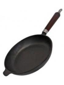 983005 Сковорода чугунная с деревянной ручкой CIF28-W, диам - 28 см