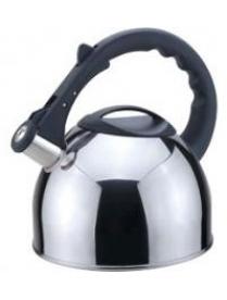 910087 Чайник из нерж. стали MAL-042-С, 2,5 литра, полированный, со свистком