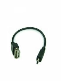 USB переходник Орбита-1013/3060 10см (штекер micro USB-гнездо USB)