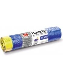(49261) Пакеты для мусора с завязками Grifon 30л (25мкм) ПВД, 10шт в рулоне 101-011