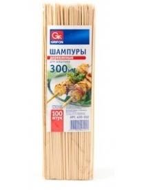 (49276) Шампуры деревянные Grifon 300мм в упаковке 100шт (100) 400-102