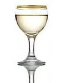 "(23252) MIS521АY016 Набор 6-ти фужеров д/белого вина ""Атлантика"" 170мл золото (4)"