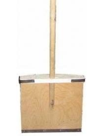(49406) Лопата снеговая фанерная 380х380мм с черенком