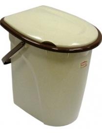 """(49696) М2331 Ведро-туалет """"Люкс"""" 17л (10)"""