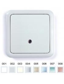 (03032) Выключатель Gusi C1В18-004/10А зел.СИ 1кл. (серебро)