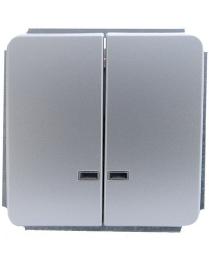 (03045) Выключатель Gusi C1В28-002/10А250Vзел.СИ 2кл. серый