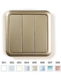 (03056) Выключатель Gusi C1В3-003/10А250V 3кл. бежевый