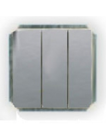 (03057) Выключатель Gusi C1В3-004/10А250V 3кл.серебро