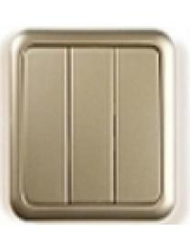 (03058) Выключатель Gusi C1В3-005/10А250V 3кл.золото