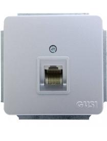 (06262) Розетки Gusi C1K1-004/компьют.RJ45 серебро