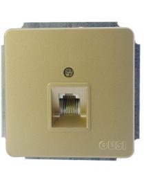 (06286) Розетки Gusi C1Т11-003/телефон RJ11 2 конт.беж.