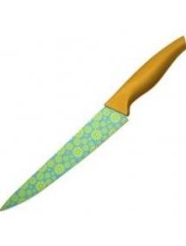 """(49143) Нож окрашенный с рисунком """"Fluer"""" MAL-02FS (разделочный) 920206"""