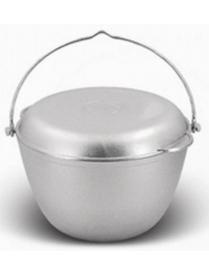 Казан походный 5,0л с крышкой сковородкой ровное дно кп50