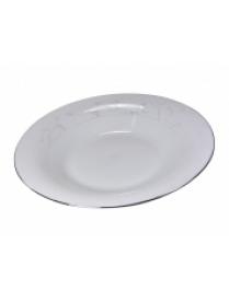 (50606) Тарелка суповая 21,5см Серебряный перламутр SOP01-03