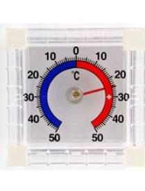 100654 (52920) Термометр оконный Биметаллический квадратный мод. ТББ уп. блистер
