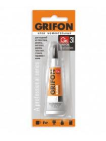 (49277) Клей моментальный универсальный Grifon 3гр в индивидуальной упаковке (288) (12) 010-001