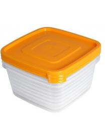 """Контейнер для продуктов (СВЧ) """"Унико"""" квадратный 0,9л набор 3шт С213"""