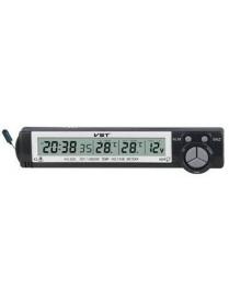 VST7043V часы эл. авто (температура, будильник, вольтметр)/100