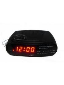 VST906-1 часы 220В + радио кр. цифры