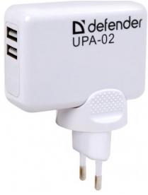 З/У DEFENDER UPA-02 — 2 порта USB 83520