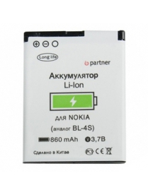 АКБ Partner Nokia 2680 slide (BL-4S)