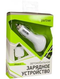 Авто З/У Partner для iPhone4, 1А
