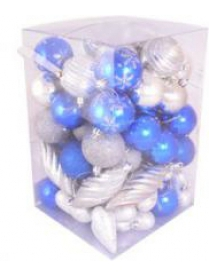 (51158) Набор NYS-4567-BS цвет синий+серебро 65предметов 102590