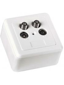 Розетка Hama H-44257 комбинированная (радио TV SATх2) белая позолоченные контакты