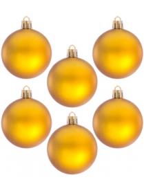 (57853) 375-084 Шары Сноу Бум пластик 60мм 6шт в пакете золото