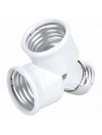 Переходник для LED ламп Огонёк AC-01 (E27 на 2*E27)/10/600