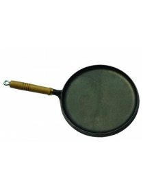 (55519) Блинница чугунная круглая 25см дерев ручка XG725W
